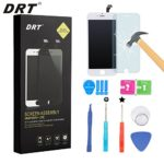 DRT OEM Replacement LCD Display Touch Screen Digitizer Frame Assembly  Set with Tools and DRT Screen Protector for iPhone 6 – White