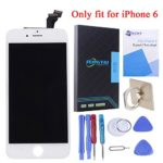 SZHSR LCD Screen Display Digitizer Touch Screen Replacement kit with Frame Repair Tools for iPhone 6 4.7inch (White)