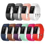 Fitbit Charge 2 Bands, AK Classic Edition Adjustable Comfortable Replacement Wristbands for Fitbit Charge 2 Heart Rate [No Tracker]