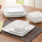Better Homes and Gardens Coupe Square 12-Piece Dinnerware Set, White, dishwasher safe by Better Homes & Gardens