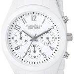 Caravelle New York by Bulova Women's 45L145 Analog Display Japanese Quartz White Watch