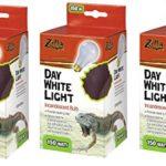 (3 Pack) Zilla Incandescent Bulb, Day White Light & Heat, 75 Watt