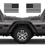 Subdued American Flags Tactical Military Flag USA Decal JEEP 5″x3″ Pair (Matte Black) Also Available in Gloss Black and Gloss White