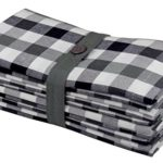 Cotton Craft 12 Pack Gingham Checks Oversized Dinner Napkins – Black-White-Grey – Size 20×20 – 100% Cotton – Tailored with mitered corners and a generous hem – Easy care machine wash
