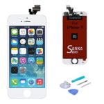 SANKA LCD Screen Digitizer Display Touch Screen Replacement Repair Kit Glass Frame Assembly Panel with Tools for iPhone 5,White