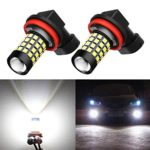 Alla Lighting 2000 Lumens High Power 2835 51-SMD Super Extremely Bright 6000K White H11LL H8LL H11 H8 H16 LED Bulbs for Fog Light Lamps Replacement